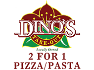 Dino's 2 for 1 Pizza & Pasta